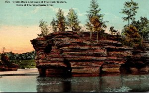 Wisconsin Dells Of The Wisconsin River Grotto Rock and Cave Of The Dark Water...