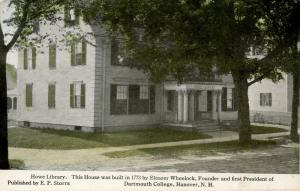 NH - Hanover. Howe Library circa 1907. This is the Eleazer Wheelock House.