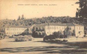 Sonoma County Hospital SANTA ROSA, CA c1930s Vintage Postcard