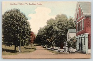 Strafford Village VT~Main Street Looking South~Rapid Telephone Office~Homes~1911