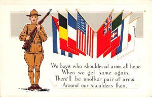 Patriotic Post Card Old Vintage Antique Postcard Shouldered Arms, Loyalty Ser...