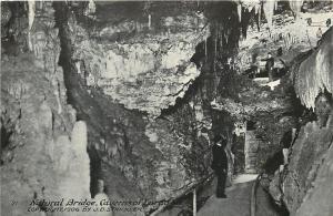Natural Bridge VA Caverns B&W 1920s