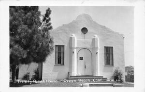 F20/ Ocean Beach California Postcard RPPC c1940s Trinity Parish House