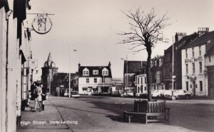 Inverkeithing High Street Royal Hotel Real Ales Sign Real Photo Postcard
