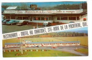 Restaurant, Motel Au Martinet, Station Service Esso Moderne, Ste-Anne De La P...