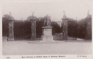 RP: Hatfield, Hertfordshire, England, 1910s ; Main Entrance to Hatfield House