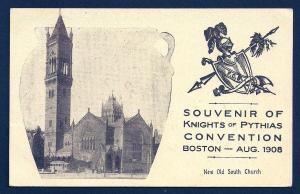 Knights of Pythias Convention Boston MA Used 1908