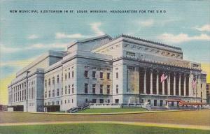 New Municipal Auditorium In Saint Louis Missouri 1948