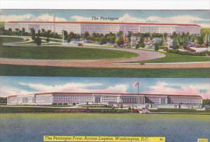 Washington D C The Pentagon From Across Lagoon