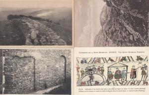 St Martins Roman & Saxon Doors Tapestry Rome Roman Wall Steps 4x Old Postcard s