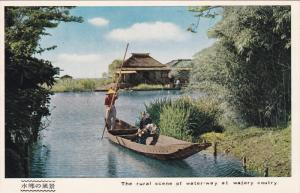 CHINA, 1940-1960's; Rural Scene of Water-Way at Watery Coutry