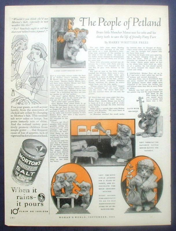 Magazine Animal Story People of Petland Mouse Harry Frees Ad