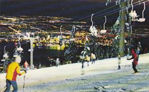 Night View, Snow, Ski Lift, Skiing on Grouse Mountain, North Vancouver, British