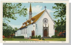 Marthas Vineyard,Mass/Ma Postcard,Oak Bluffs Church/Cape Cod