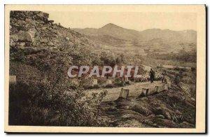 Old Postcard S Baux R Saint Remy Road