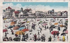 New Jersey Ocean Grove Beach Front Scene South End 1926