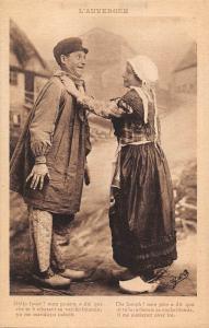 BR72018 l auvergne types folklore costumes ethnic france couple