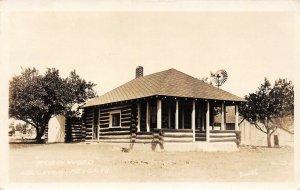 LPM38 Houghton Heights Log Cabin   Michigan RPPC Postcard