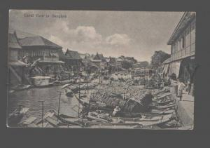082396 SIAM THAILAND Canal view in Bangkok Vintage PC