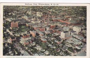 North Carolina Winston Salem Birds Eye View 1929