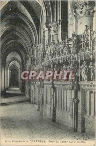 Postcard Old Chartres Cathedrale Tour Choir (XVIth Century)
