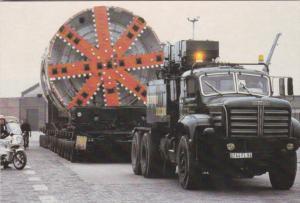 France Sangatte Service Tunnel Boring Machine 1988 Euro Tunnel Postcard
