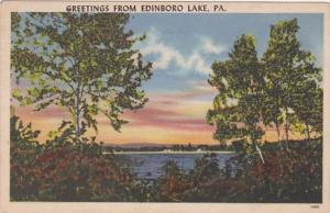 Greetings From Edinboro Lake Pennsylvania 1958
