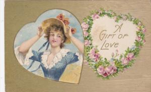 VALENTINE'S DAY; PU-1909; Woman, A Gift Of Love