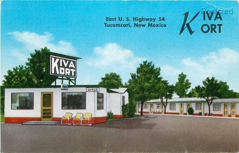 NM, Tucumcari, New Mexico, Kiva Kort, MWM No. 29,348F