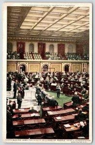 Washington DC~House of Representatives~Congressmen on Floor~c1910 Detroit Pub Co