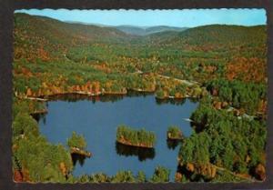 NY Aerial Lake Vanare ADIRONDACKS NEW YORK Postcard PC