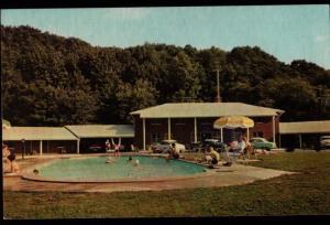 Alexandria PA Brookside Motel Richmond HWY Pool View Vintage Postcard B01