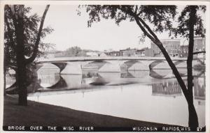 RP: Bridge over Wisconsin River , WISCONSIN RAPIDS , Wisconsin , 30-40s
