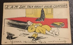 VINTAGE Comic Postcard (1906)  2-A-M- Say Talk About Solid Comfort