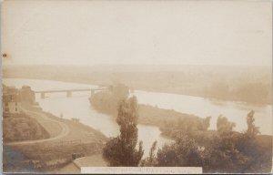 Grand River Cayuga ON Ontario Road Bridge c1906 RPPC Postcard F47