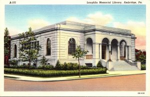 Pennsylvania Ambridge Laughlin Memorial Library Curteich