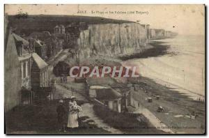 Old Postcard The Ault Beach and Cliffs