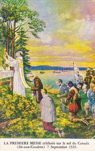 Le tableau domine le maitre-autel de St Bernard Quebec Canada