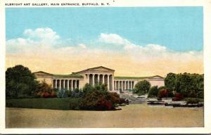 New York Buffalo Albright Art Gallery Main Entrance