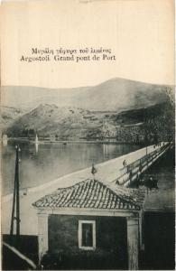 GREECE PC Agrostoli Grand pont de Port (a1945)
