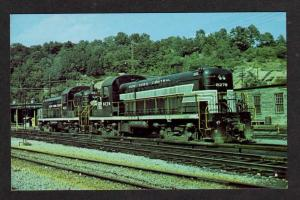 NY New York Central Railroad Train North White Plaines New York Postcard RR PC