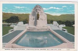 Utah Salt Lake City Mormon Battalion Monument State Capitol Grounds Curteich