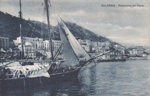 SALERNO, Campania, Italy; Panorama del Porto, 00-10s