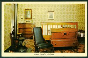 Mary Lincoln's Bedroom President Abraham Home Vintage Postcard