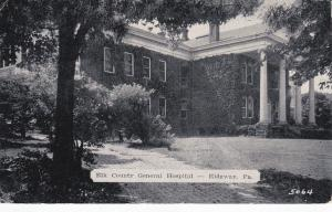 RIDGWAY, Pennsylvania, PU-1939; Elk County General Hospital
