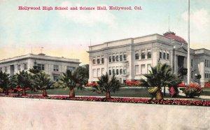 Hollywood High School & Science Hall, Hollywood, CA., Early Postcard, Unused