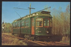 Light Interurban Car 38 Laconia Train Seashore Trolley Museum Railroad Postcard