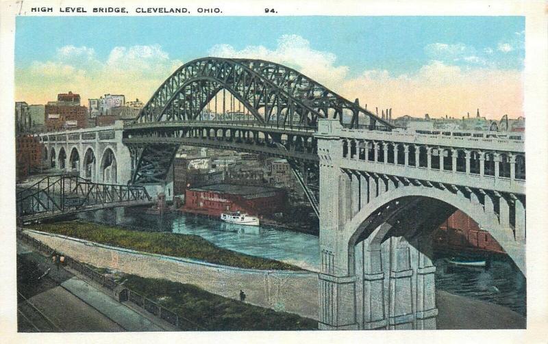 United States Cleveland Ohio High Level Bridge postcard