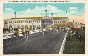 Arcade, Pony Track, and Miniature Railway, Asbury Park,  N.J., Early Postcard