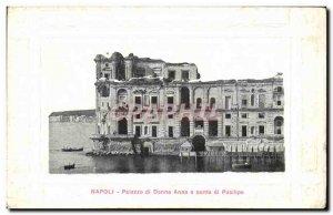 Postcard Old Napoli Palazzo di Donna Anna and Punta di Posllipo
